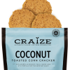 Craize's coconut is a special cracker that delights our taste buds in every bite! It pairs perfectly with all nut spreads, banana, honey, ice cream, and of course, Nutella(R). This flavor also combines incredibly well with strong cheeses, like goat cheese and brie. Added bonus: Kosher, Vegan, and Gluten Free!