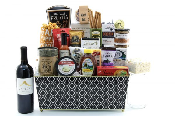 Deluxe With Wine gift basket