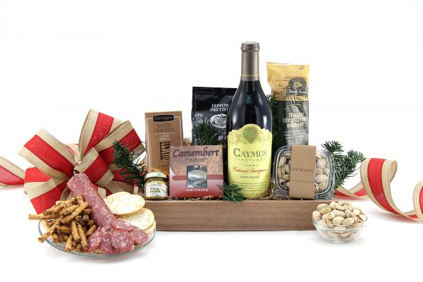 Good Tidings Gourmet Gift Basket With Wine