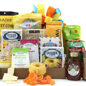 Large assortment of Florida made treats including chocolates, nuts, honey, coffee, and more!
