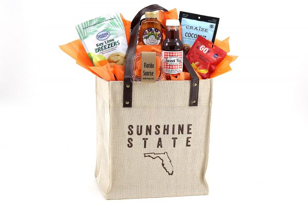 Our exclusive tote bag packed with 6 made-in-Florida items!