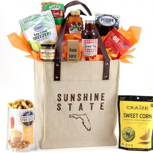 Our exclusive tote bag packed with 10 made-in-Florida items!
