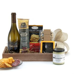Savor With Wine gift basket